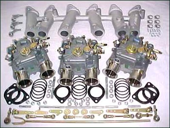 motorsport weber triple carburetor kit 40 dcoe the z store nissan datsun 240z 260z 280z. Black Bedroom Furniture Sets. Home Design Ideas