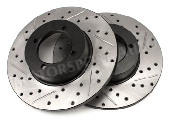 Motorsport! StopTech Cross Drilled/Slotted Brake Rotors
