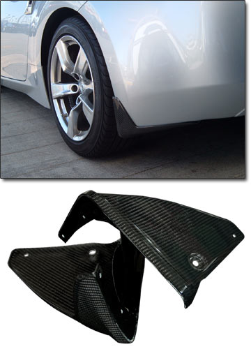 Splash Guard Car >> Motorsport! Carbon Fiber Splash Guards, Rear, 09-18 370Z - The Z Store! Nissan-Datsun 240Z 260Z ...