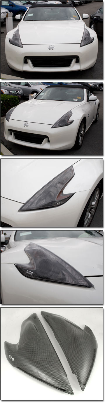 Gts Carbon Print Acrylic Headlight Covers Installed Today