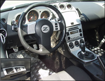 Motorsport Carbon Fiber Interior Trim Kit Manual 03 05 350z The Z Store Nissan Datsun 240z